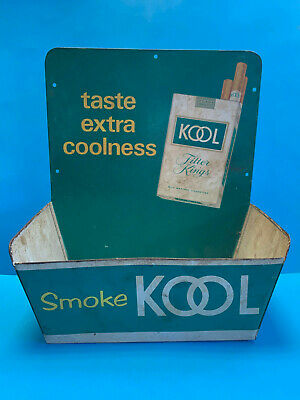 Vtg Advertising Ashtray? Come Up To Kool Store Counter Display Tin General Store
