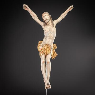 Corpus Christi Sculpture | Christ Wooden Statue | Antique Carved Jesus 22""