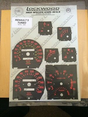 Renault 5 GT Turbo OE original dial Covers Lockwood