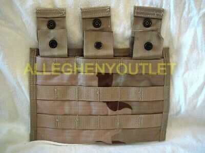 USGI Military MOLLE II 3 Mag Side by Side Magazine Pouch 3-Color Desert Camo NEW