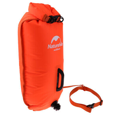 Floating Safety Inflated Swim Buoy Dry Storage Bag for Open Water Swimming