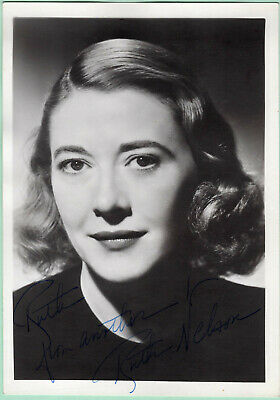 Ruth Nelson Signed Autographed B&W Photo Headshot - from the Melchior Collection