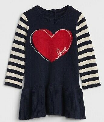 Baby GAP Girls Intarsia Swan Sweater Tunic Dress Red 18 24 mo 2T 3T 5T NWT $40