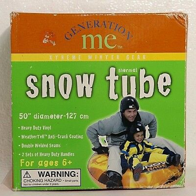 """GENERATION ME 50"""" Thermal Snow Tube Extreme Winter Gear Sledding 2 Person Handle"""