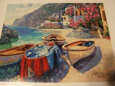 """""""Memories of Capri"""" By Howard Behrens  hand signed certification MINT"""