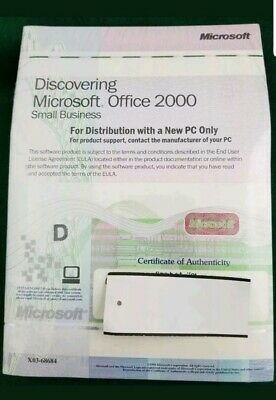 NEW Microsoft Office 2000 Discovering Small Business PC Software w/ Product Key