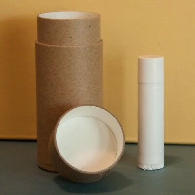 50 2.5 oz Deodorant Lotion Tubes Kraft Paper Eco Friendly Cardboard Containers