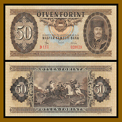 Hungary 50 Forint, 1965 P-170a Unc