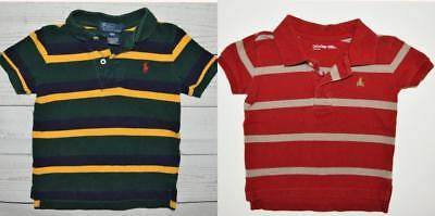 LOT 2 Boys 12m Short Sleeve Striped Shirts Tops POLO By RALPH LAUREN Baby GAP
