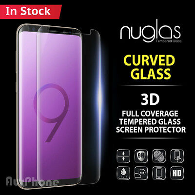 Samsung Galaxy S9 S8 Plus Note 9 8 NUGLAS Full Tempered Glass Screen Protector