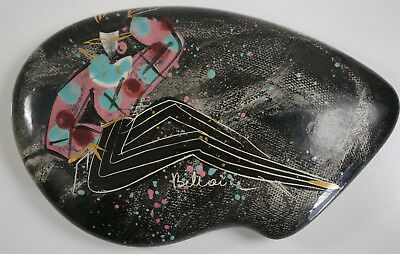 Marc Bellaire Hand Painted Covered Decor Dish Mid Century Modern 50s