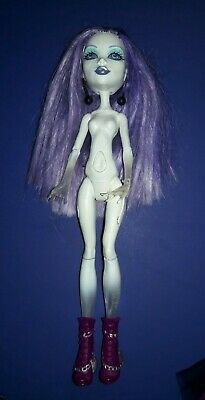 Monster High Ghouls Alive Spectra Nude Doll w/ Shoes Boots