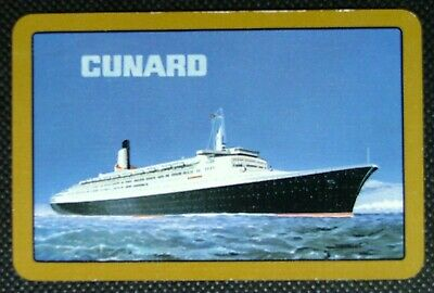 1 x Ace of spades playing card Cunard cruise line Shipping QE2 Ship ZP015