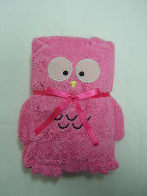 Cuddles Baby/Babies Bath/Bathtime Towel ~ Owl Design ~ PINK