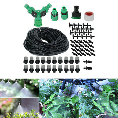 20M Water Misting Cooling System Mist Sprinkler Nozzle Outdoor Garden Tool Kit