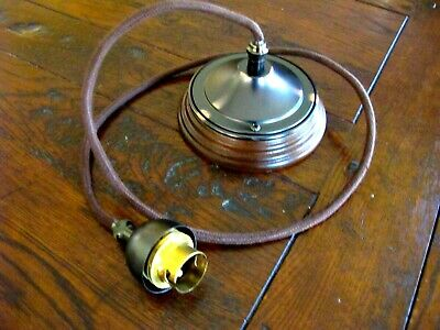 New Art deco retro Victorian pendant light set on ceiling block mount