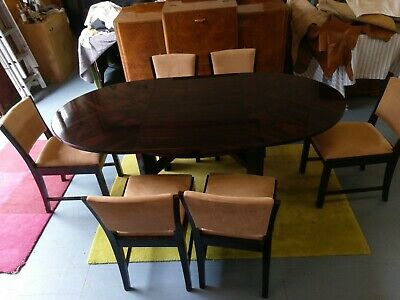 Rare French Macassar dining suite c 1930