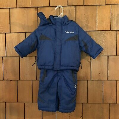 ee5a14317c Timberland Baby Boy Winter Coat And Snow Suit 2 Piece Blue Size 6-9 Months