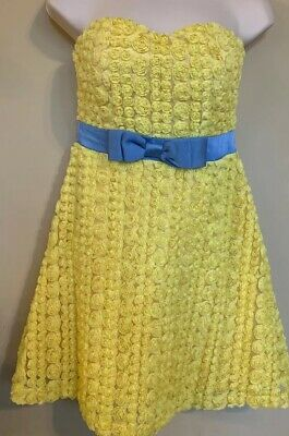 22f2c84458a3 anthropologie minuet dress sz small Yellow Floral Tulle babydoll NWT!