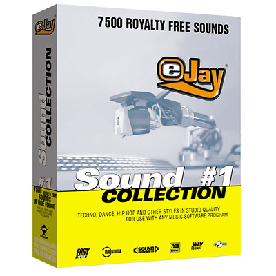 🥇 eJay Sound Collection 1, 7500 WAV sounds, samples and Loop, all DAW, Music