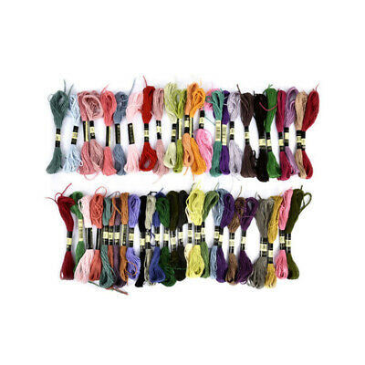 Cotton Sewing Embroidery Thread Skeins Cross DMC Stitch 50pcs Floss Colors Multi