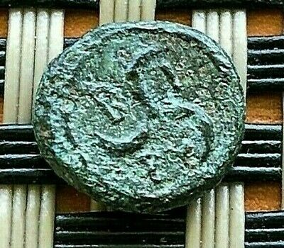 "Birytis, Troas 300 Bc Ae10 Unit ""Kabeiros & Three Crescents"" Ancient Greek Coin"
