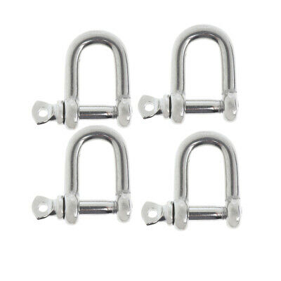 4xM5-5mm Stainless Steel D-Shackle Chain Shackle Rigging Marine Grade