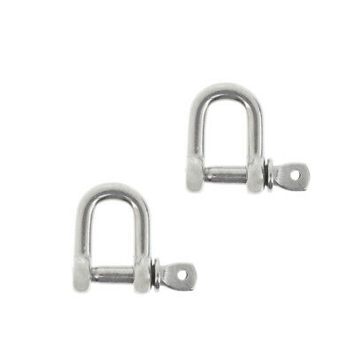 2xM4-4mm Stainless Steel D-Shackle Chain Shackle Rigging Marine Grade