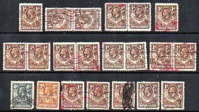 Northern Rhodesia: 1920s KGV group (21) used