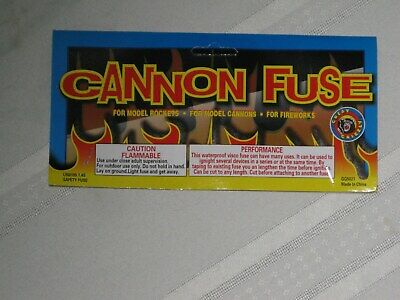 (1) Cannon Fuse Labels Hobby 3mm Firework Fuse Label +