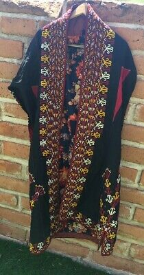 Antique Turkoman Silk Wedding Coat Turkomen Ethnic Tribal Central Asian Bridal
