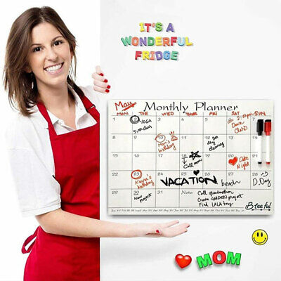Home Office Wall Fridge Magnetic Planner Board Weekly Calendar Sticker Reusable