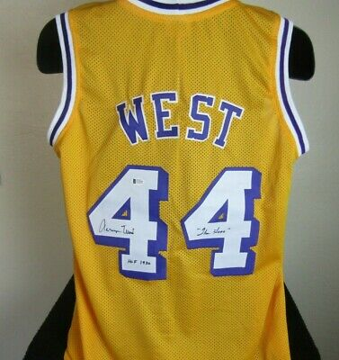 sports shoes b6816 c3764 JERRY WEST LA Los Angeles Lakers Signed NBA Allstar Yellow ...