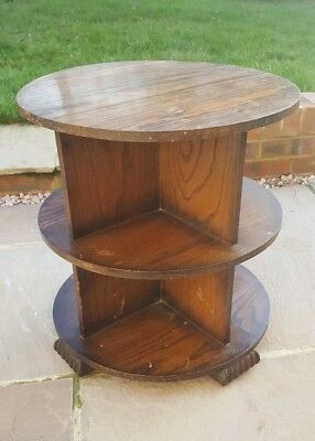 Vintage bookcase side table