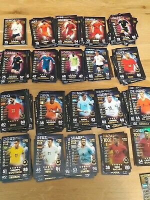 Match Attax 101 2018/19 18/19 10 card bundles cards 1 to 182 - You choose