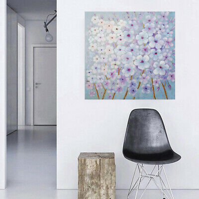 100% Hand Painted Canvas Oil Painting Wall Art Home Decor Framed Plum Flower