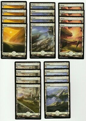 20x PLAINS Full Art Basic Land NM/LP MTG Magic the Gathering Battle For Zendikar