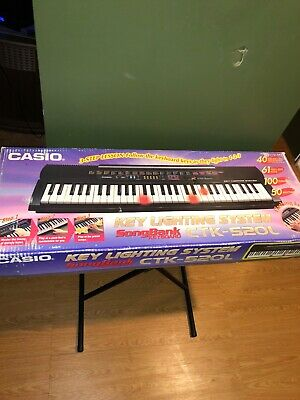**RARE**Vintage Casio CTK-520L Portable Keyboard W/Original Casio Stand