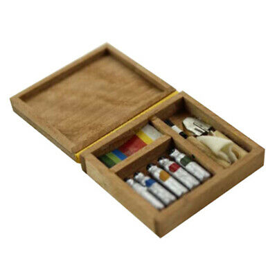 1:12 Dollhouse accessory miniature artist paint pen wooden box model toys  Nd