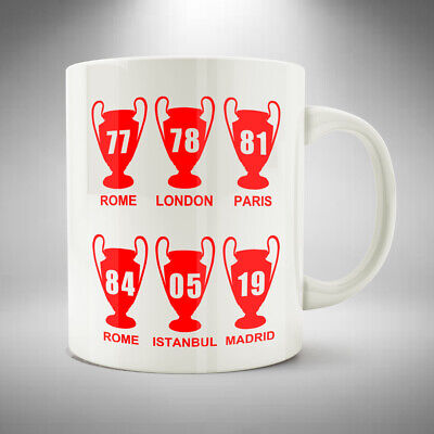 Liverpool 6X Champions League Winners Mug / Cup 6 Times European Cups Scouser