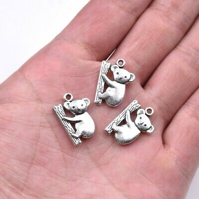 10x Tibet Silver Wolf Pendant Charms Necklace Bracelet Earrings Craft Making
