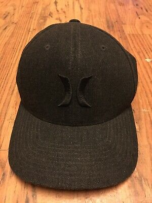 a0c7792c MENS HURLEY BLACK SUITS 2.0 CHARCOAL HAT FLEX FIT FITTED CAP SIZE S/M Also