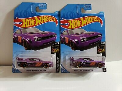 2019 HOT WHEELS > Dodge Challenger Drift Car , Purple Loose Riveted
