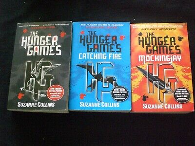 HUNGER GAMES Trilogy 1 2 3 Trade Paperback UK Editions by SUZANNE COLLINS