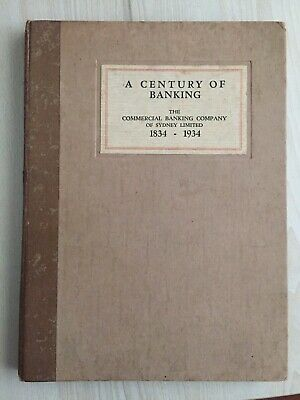 A Century of Banking Commercial Banking Company Sydney 1934