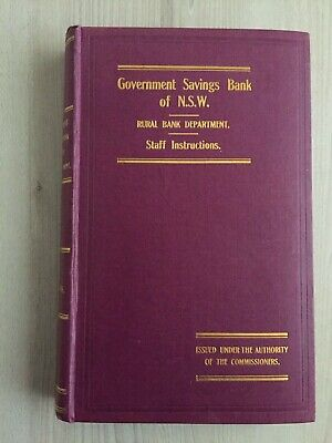 Government Savings Bank of NSW Rural Bank Staff Instructions 1923