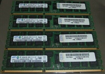 32GB (4x8GB) Samsung PC3-8500 Registered ECC DDR3 1066MHz IBM FRU 77P8919 Memory