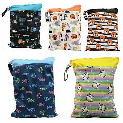 Wet Bag double zip waterproof 30x40cm for Nappies, clothes, swimming daycare bag