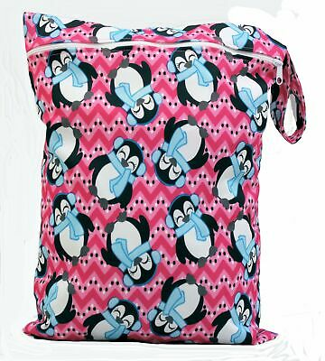 Wet Bag baby nappy bag swimming cloth nappies resuable Penguin