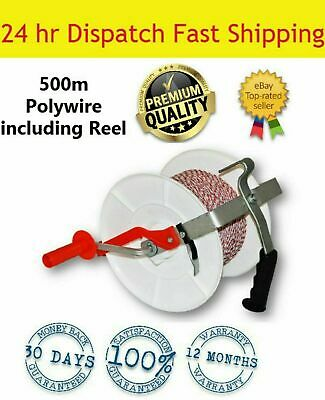 500M  Roll  Poly Wire Including Electric Fence Reel  For Strip Grazing
